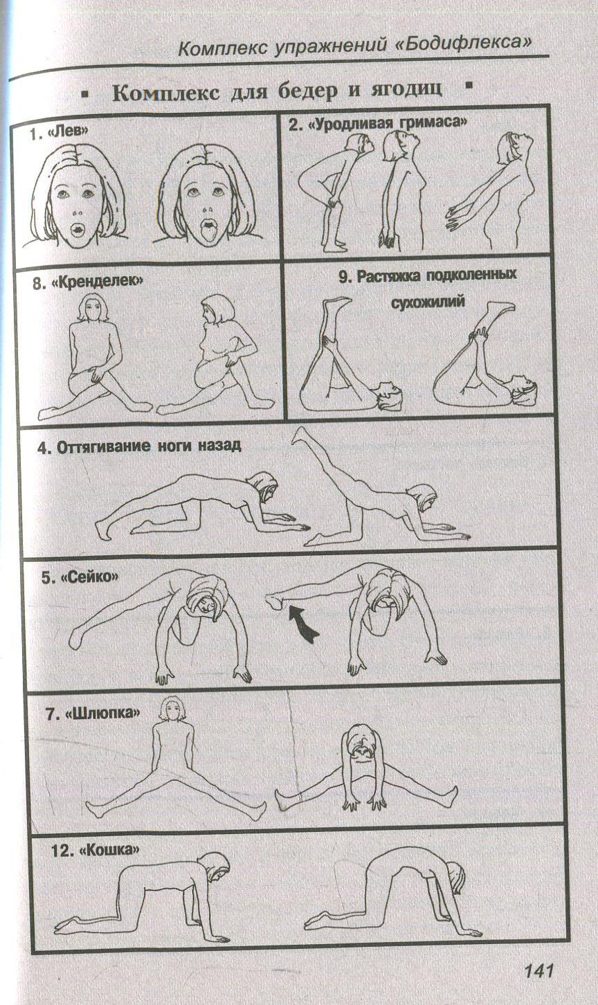 бодифлекс упражнения в картинках и с описанием и схемами что