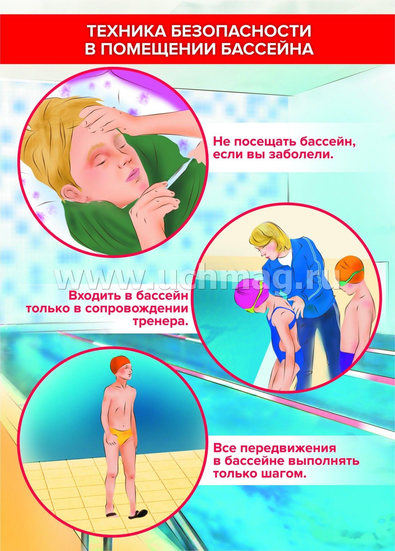 правила посещения бассейна в картинках том