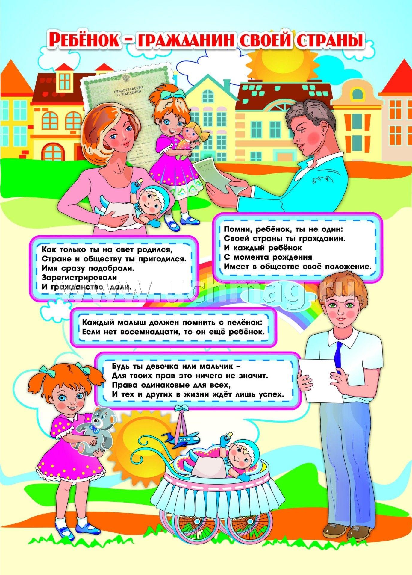 Плакат по правам детей в доу